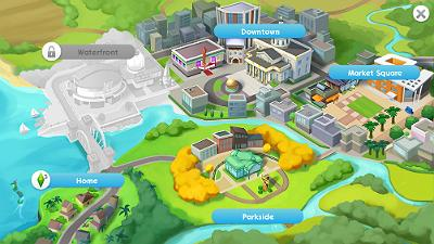 Locations In The Sims Mobile The Sims Mobile Gamea